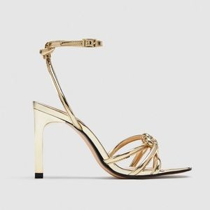 Zara Gold Heels NWT